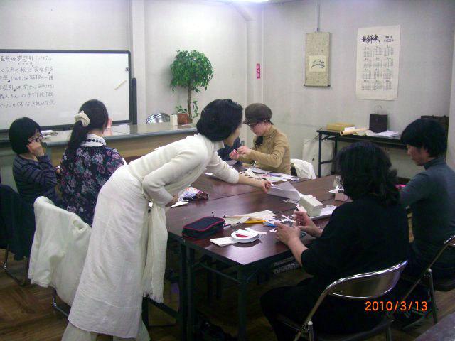 友禅紙を用いた和風ラッピング講習