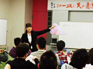 2011年12月2日 新宿調理師専門学校【ラッピング協会】
